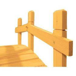 Mostek drewniany ogrodowy - 71 cm - Stary Orzech