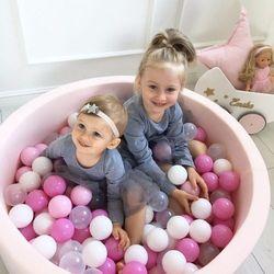 Pastelowy basen kolor pudrowy róż + piłki do wyboru marki Meow