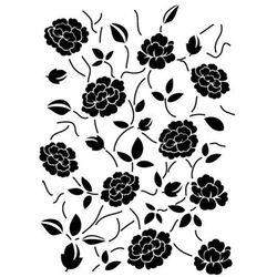 Szabloneria Szablon z tworzywa flora 264 - rose garden (wzór powtarzalny)