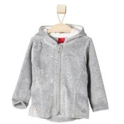 s.OLIVER Girls Mini Kurtka welurowa grey melange (4051567929873)