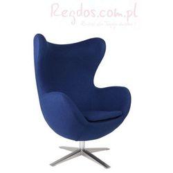 Fotel Jajo szeroki tkanina niebieska 2729 z kategorii krzesła i stoliki