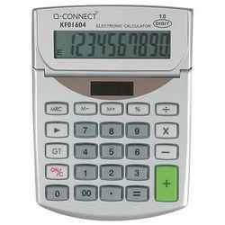 Kalkulator biurkowy Q-CONNECT 10-cyfrowy, 102x140mm, szary, KF01604