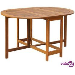 Vidaxl owalny stół ogrodowy, obustronnie składany, z drewna akacjowego