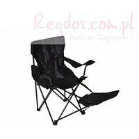 Krzesełko turystyczne - Krzesło składane wędkarskie z podnóżkiem