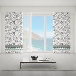 Zasłona okienna na wymiar - COLOURFUL FOLK ROOSTERS