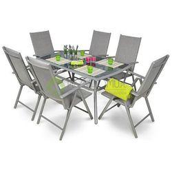 Meble ogrodowe ALU 150S/010K 6 krzeseł srebrny