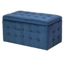 Pufa granatowa - hoker - schowek - podnóżek - skrzynia - MICHIGAN, kolor niebieski