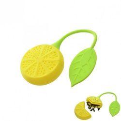 4home Zaparzacz silikonowy do herbaty cytryna,
