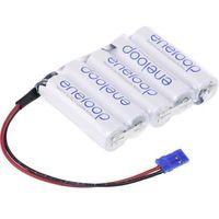 Pakiet akumulatorów AA, NiMH Panasonic eneloop Reihe F1x5 Graupner, Ilość ogniw: 5, 6 V, 1900 mAh, Przewód