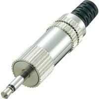 Złącze jack 2,5 mm Conrad Components 719013 Złącze męskie proste Ilość PIN: 2 Mono srebrny 1 szt.