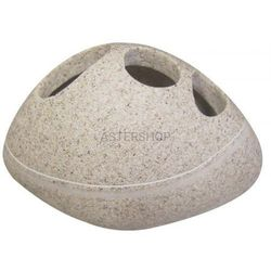 LITTLE ROCK Pojemnik na szczoteczki z konglomeratu Light 22190209