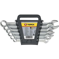 Zestaw kluczy płasko-oczkowych TOPEX 35D757 6 - 22 mm (12 elementów)