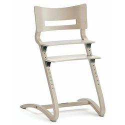 Wysokie krzesło dziecięce LEANDER CLASSIC, biały pigmentowany