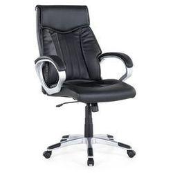 Krzesło biurowe czarne - obrotowe - skóra ekologiczna - TRIUMPH (7081456666111)