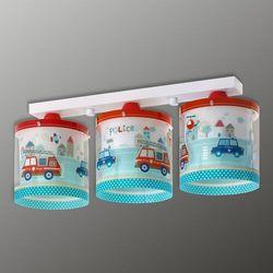 Klik 60613 - Lampa sufitowa dziecięca POLICE 3xE27/60W/230V, NR. 60613
