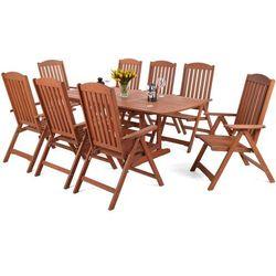 Home&garden Meble ogrodowe drewniane meranti maxi 150 / 200 cm