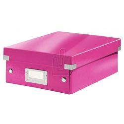 Pudło Click & Store z przegródkami małe różowe 6057