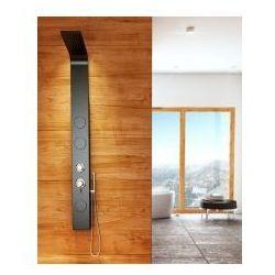 8721 Aluminiowy panel prysznicowy, czarny, REA-P0045