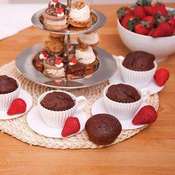 FOREMKI FILIŻANKI -4szt do muffinek deserów- białe