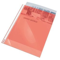 Koszulka krystaliczna Esselte A4/10szt. czerwona 55mic.(folia) z kategorii Koszulki, teczki, koperty