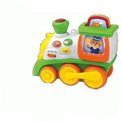 Mój pierwszy pociąg pojazdy PL/EN DUMEL - produkt z kategorii- Maskotki interaktywne