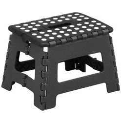 Zeller Składany stołek - taboret, antypoślizgowy, kolor czarny, (4003368991597)
