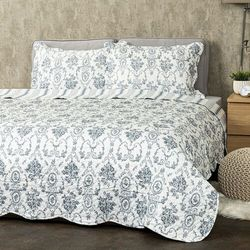 4Home Narzuta na łóżko Blue Patrones, 220 x 240 cm, 2 szt. 50 x 70 cm, 229687