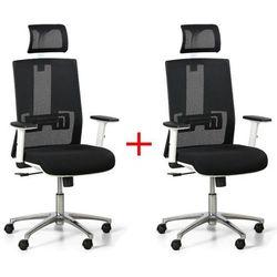 Krzesło biurowe essen white 1+1 gratis, czarne marki B2b partner