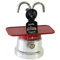 Kawiarka mini 2 filiżanki - srebrno czerwona marki Top moka