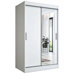 Biała szafa przesuwna z lustrem 120 - Palmira 3X, Hugo_120 _2.Biały_mat