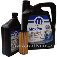 Olej  5w30 oraz oryginalny filtr jeep wrangler 3,6 v6 -2013 marki Mopar