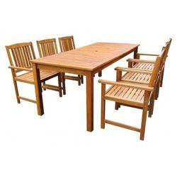 Producent: elior Drewniany zestaw mebli ogrodowych kint 3x - brązowy
