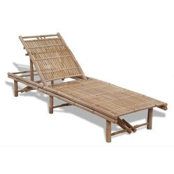Regulowany leżak bambusowy marki Vidaxl