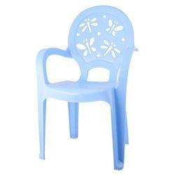Krzesełko plastikowe dziecięce niebieskie