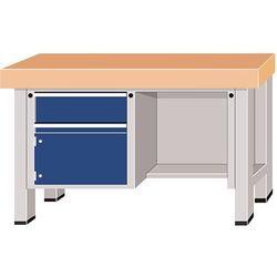 Stół warsztatowy do dużych obciążeń, szer. blatu 1500 mm, z 1 szufladą i 1 drzwi