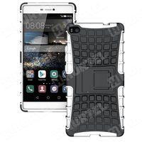 Pancerne etui Kickstand Huawei P8 białe - Biały - produkt z kategorii- Futerały i pokrowce do telefonów