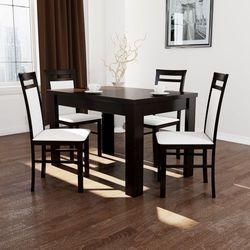 Zestaw do jadalni stół z 4 krzesłami TANIO OKAZJA, towar z kategorii: Zestawy mebli kuchennych
