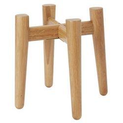 Goodhome Stojak na doniczkę drewniany 12 cm