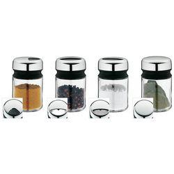 WMF - zestaw 4 pojemników na przyprawy (wysokość: 9,5 cm), 06.6158.6040