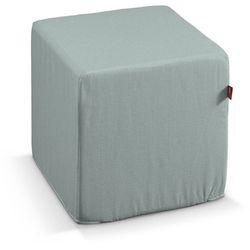 pokrowiec na pufę kostke, pastelowa mięta, kostka 40 × 40 × 40 cm, granada marki Dekoria