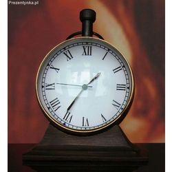 Mosiężny zegar stojący biurkowy Trophy