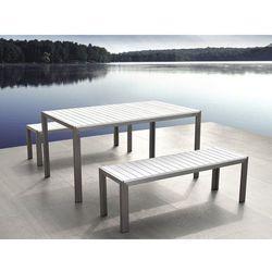 Beliani Aluminiowe meble ogrodowe białe nardo (4260580923953)