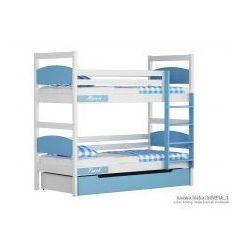 Łóżko pietrowe Malii duże 90x200 z szufladą, 2779