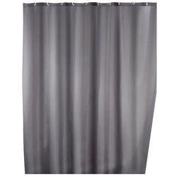 Zasłona prysznicowa, tekstylna, szara, 180x200 cm, WENKO, B008MVVY4K