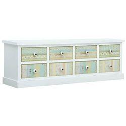 Vidaxl szafka pod tv z szufladami, biała, 120 x 30 x 40 cm, mdf (8719883732497)