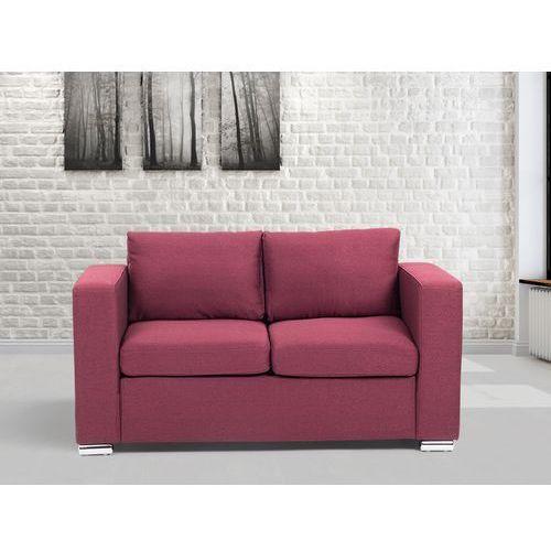 Sofa burgundowa - dwuosobowa - kanapa - sofa tapicerowana - HELSINKI - sprawdź w Beliani