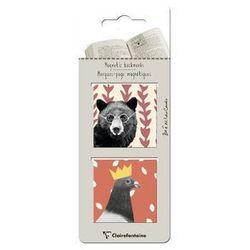 Zakładki magnetyczne Clairefontaine ZOE - niedźwiedź i gołąb, kup u jednego z partnerów