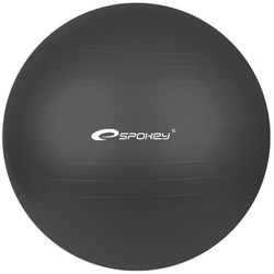 Piłka gimnastyczna FITBALL śr.75 cm + pompka Spokey (czarna) (piłka, skakanka)