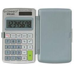 Q-connect Kalkulator 8-cyfrowy, 60x101mm, etui, szary (5705831016026)