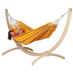 Zestaw hamakowy: hamak dwuosobowy currambera ze stojakiem canoa, pomarańczowy cuh16cns16-1 marki La siesta